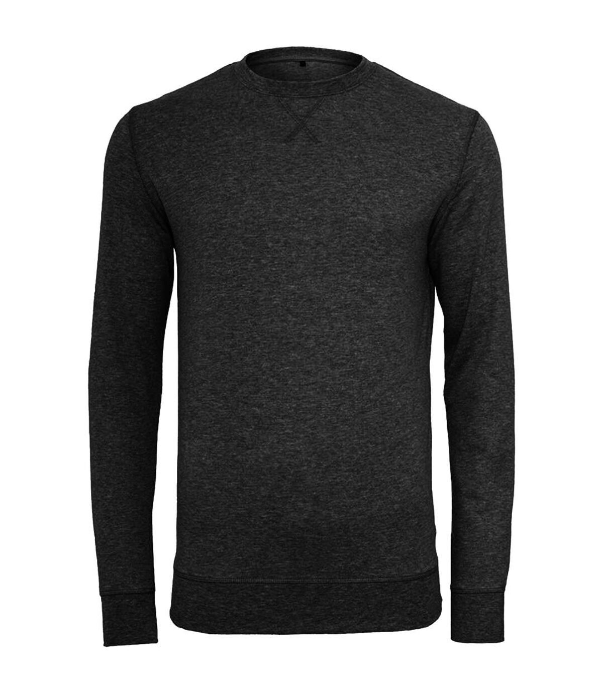 Build Your Brand Mens Plain Light Crewneck Sweater (Black) - UTRW5682