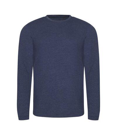AWDis Mens Long Sleeve Tri-Blend T-Shirt (Heather Navy) - UTPC2975