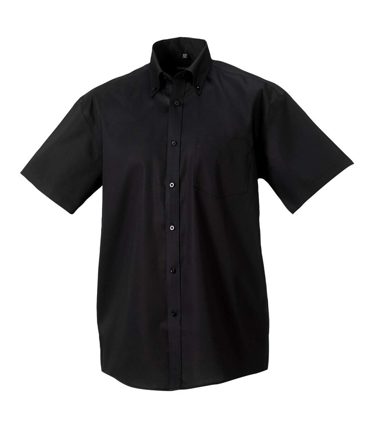 Russell Collection Mens Short Sleeve Ultimate Non-Iron Shirt (Black) - UTBC1037