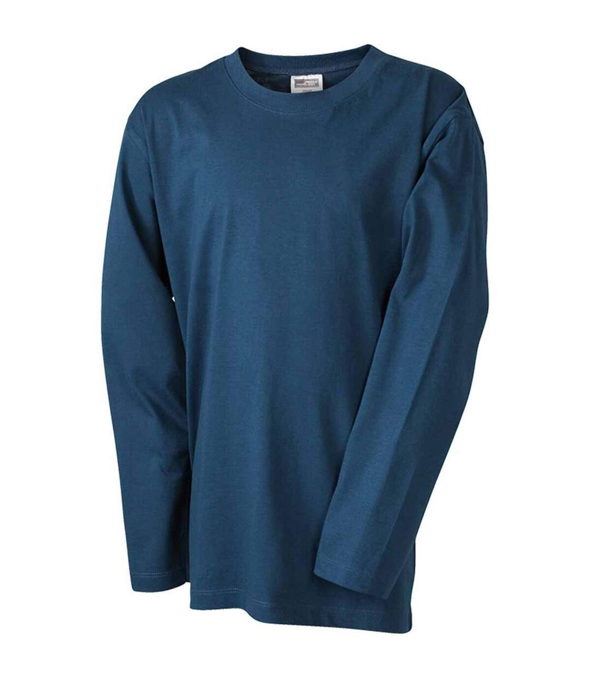 T-shirt manches longues adulte homme coupe droite JN913 - bleu pétrole