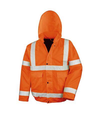 Result Core High-Viz Winter Blouson Jacket (Waterproof & Windproof) (Pack of 2) (Orange) - UTRW6881