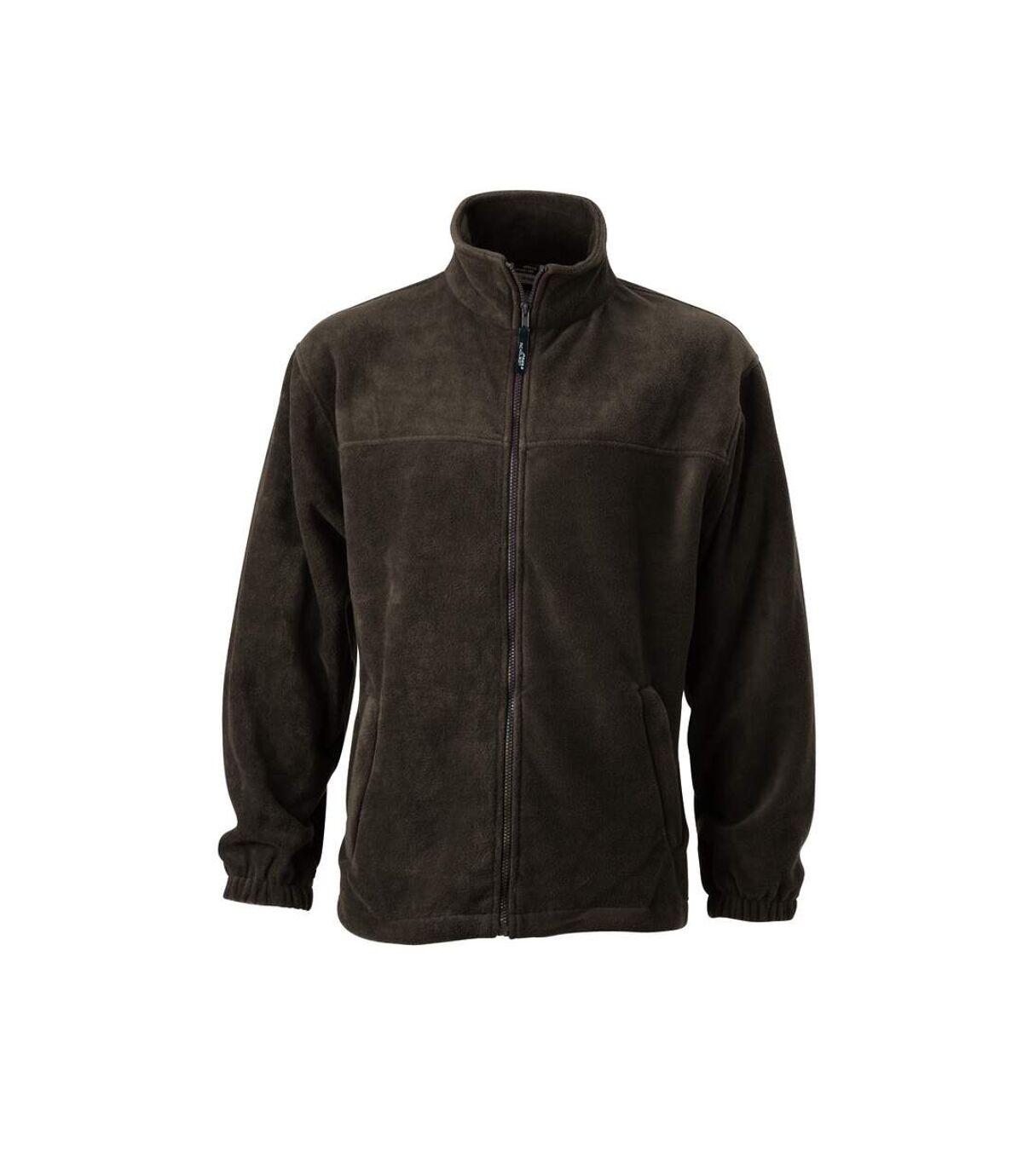 Veste polaire zippée homme - JN044 - marron