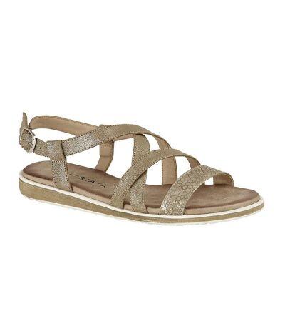 Cipriata Womens/Ladies Marcella Sandals (Gold Shimmer) - UTDF1554