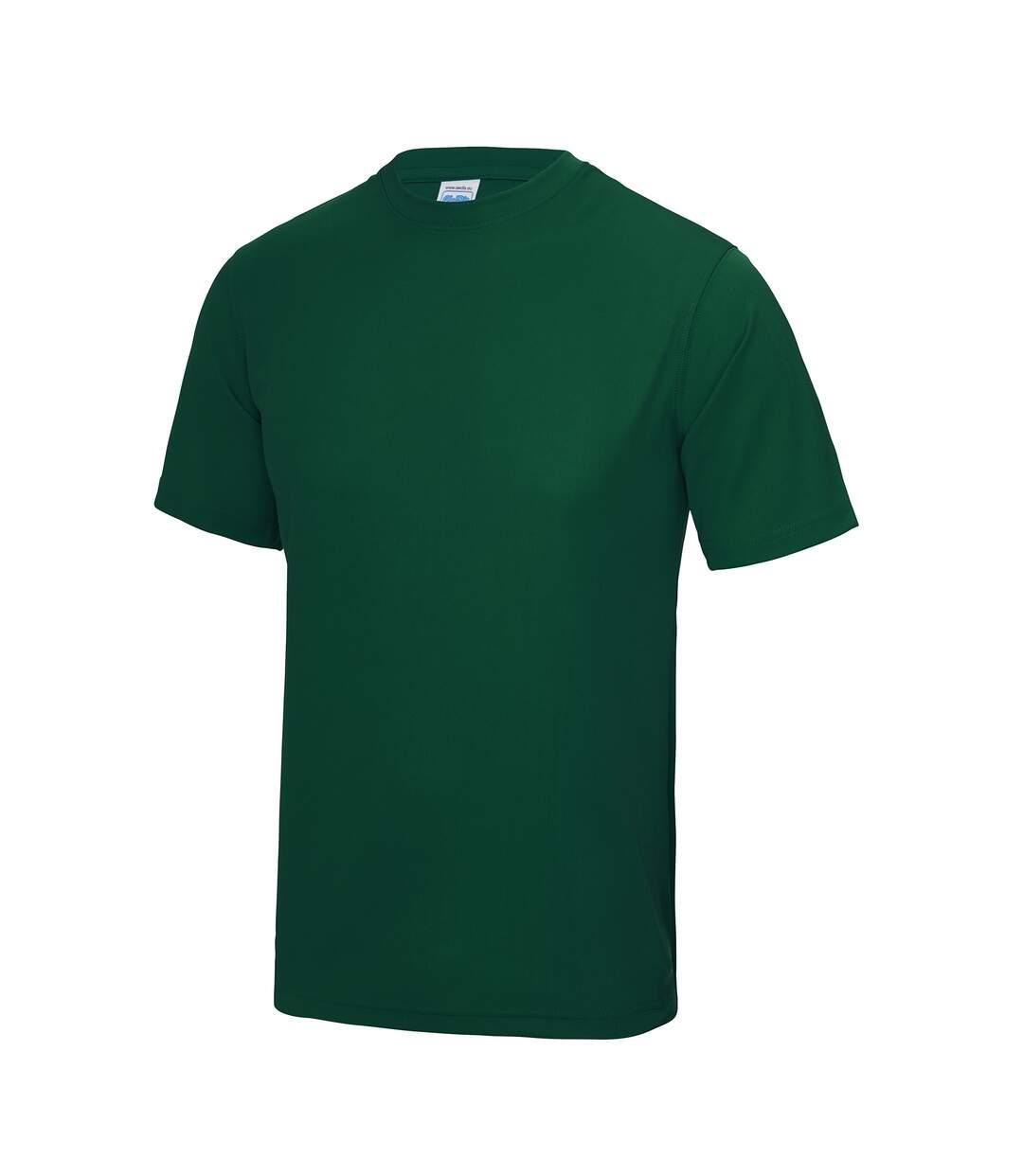 AWDis Just Cool Mens Performance Plain T-Shirt (Bottle Green) - UTRW683
