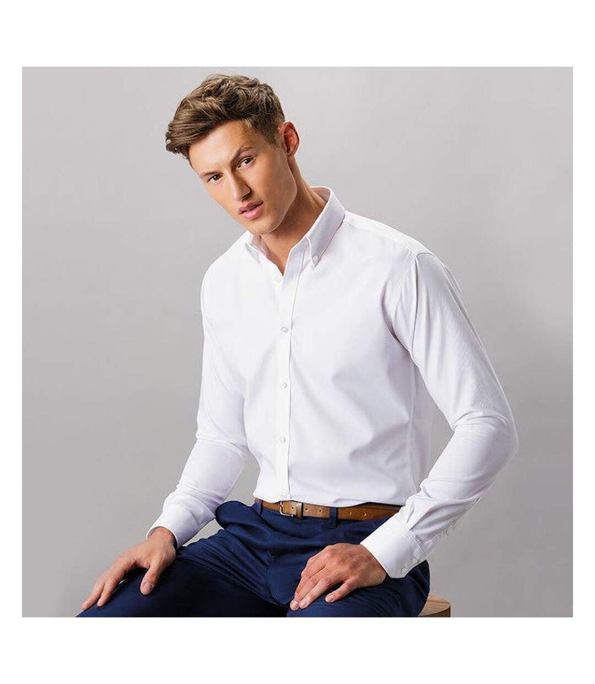 Kustom Kit Mens Long Sleeve Oxford Twill Shirt (White) - UTBC3722