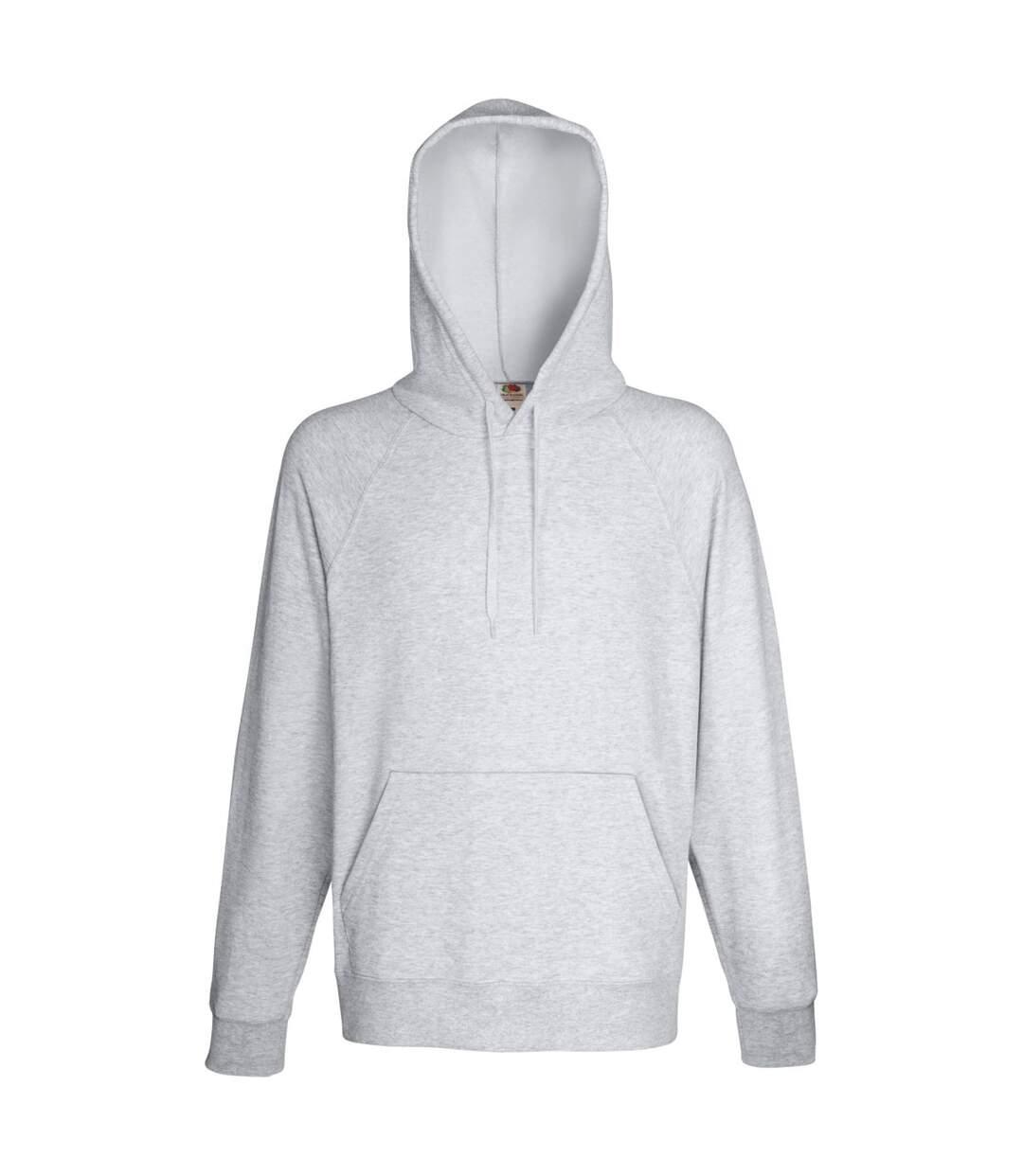 Fruit Of The Loom Mens Lightweight Hooded Sweatshirt / Hoodie (240 GSM) (Heather Grey) - UTBC2654