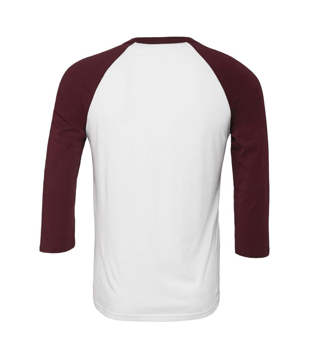 Canvas Mens 3/4 Sleeve Baseball T-Shirt (White/Navy) - UTBC1332