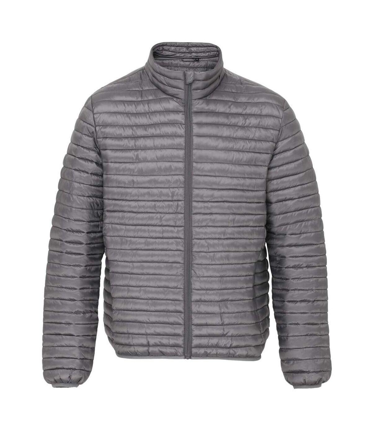 2786 Mens Tribe Fineline Padded Jacket (Steel) - UTRW3846