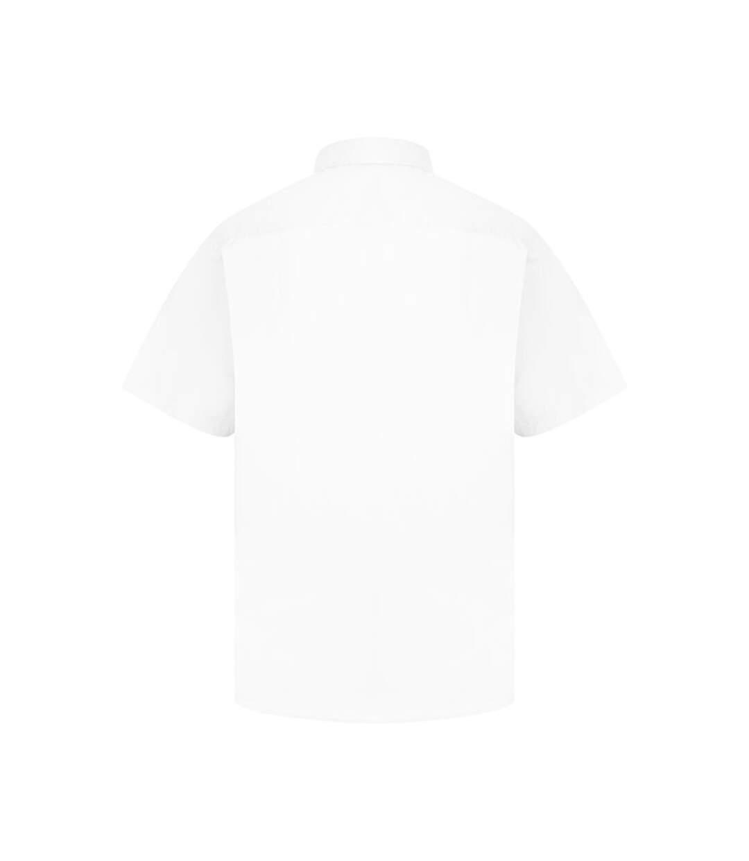 Absolute Apparel Mens Short Sleeved Classic Poplin Shirt (White) - UTAB118