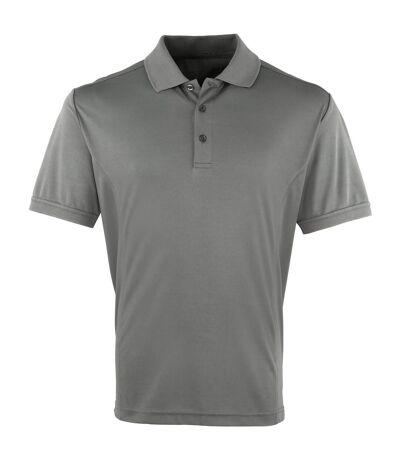 Premier Mens Coolchecker Pique Short Sleeve Polo T-Shirt (Lime) - UTRW4401