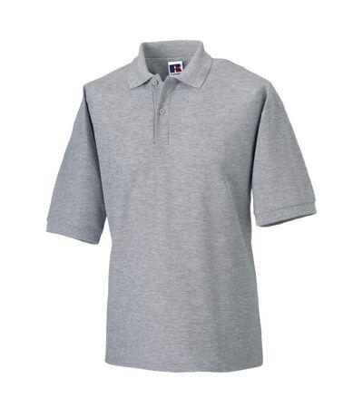 Russell Mens Classic Short Sleeve Polycotton Polo Shirt (Light Oxford) - UTBC566