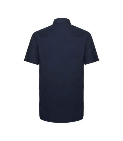 Russell Collection Mens Short Sleeve Easy Care Tailored Oxford Shirt (Bright Royal) - UTBC1016