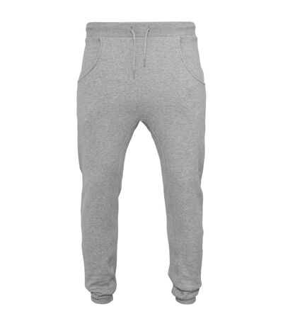 Build Your Brand Mens Heavy Deep Crotch Sweatpants (Heather Grey) - UTRW5818