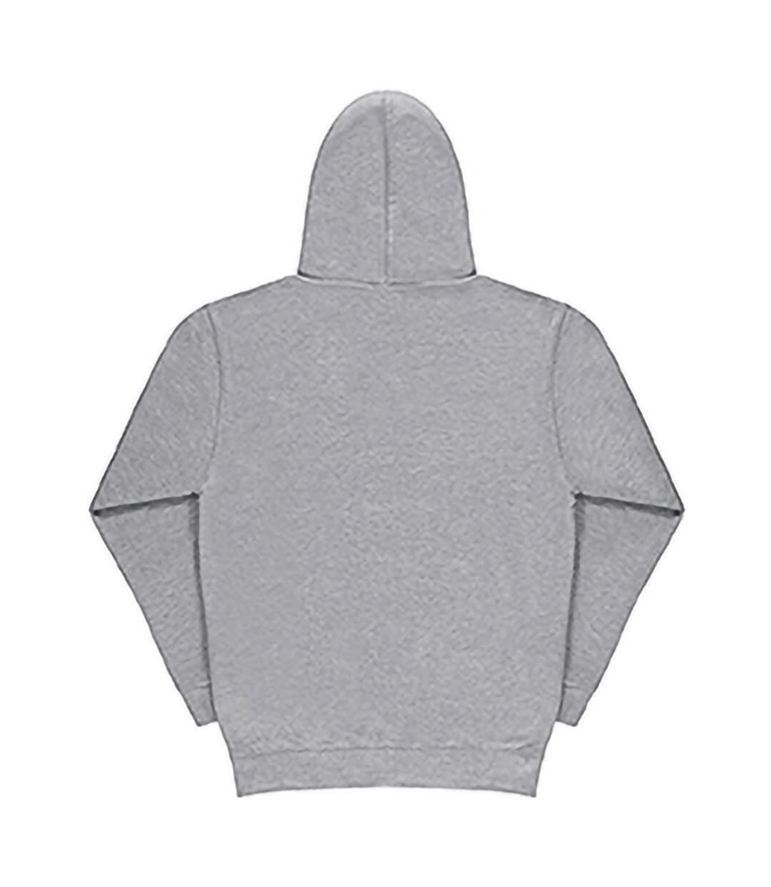 SG Mens Plain Hooded Sweatshirt Top / Hoodie (Light Oxford) - UTBC1072