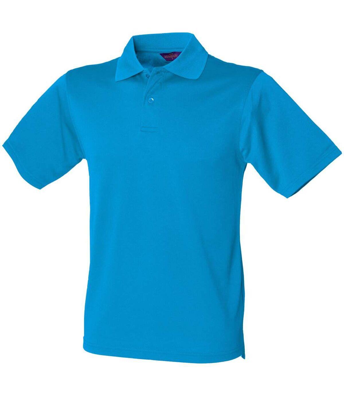Henbury Mens Coolplus® Pique Polo Shirt (Sapphire Blue) - UTRW635