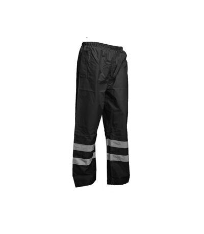 Yoko Mens Hi-Vis Waterproof Contractor Over Trousers (Pack of 2) (Black) - UTBC4402