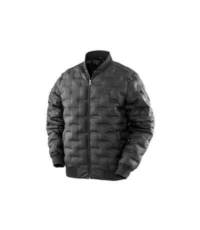 Result Urban Mens Ultrasonic Rib MA1 Jacket (Black) - UTPC3678