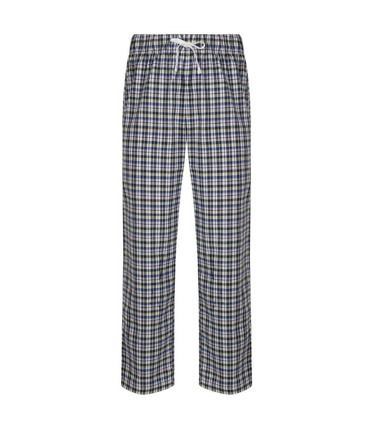 Skinnifit Mens Tartan Lounge Pants (White/Multi Check) - UTRW6023