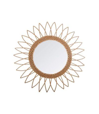 Miroir en Rotin Pointe 50cm Beige