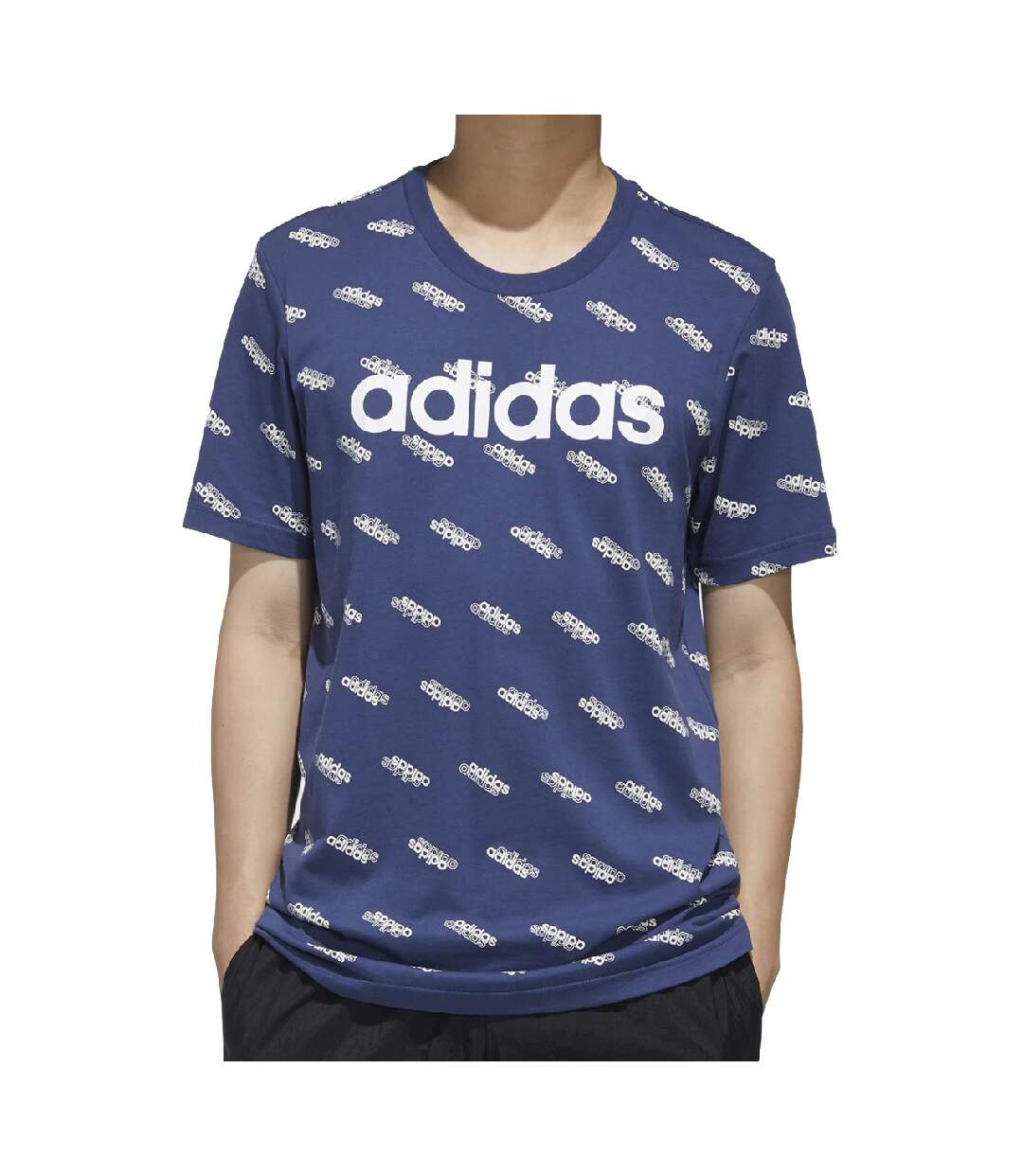 T-Shirt bleu homme Adidas M Fav Tee
