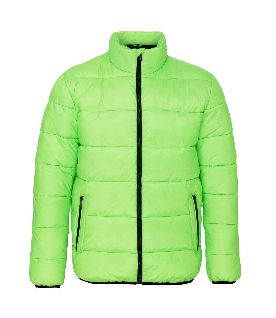 2786 Mens Venture Supersoft Padded Full Zip Jacket (Lime / Black) - UTRW3848