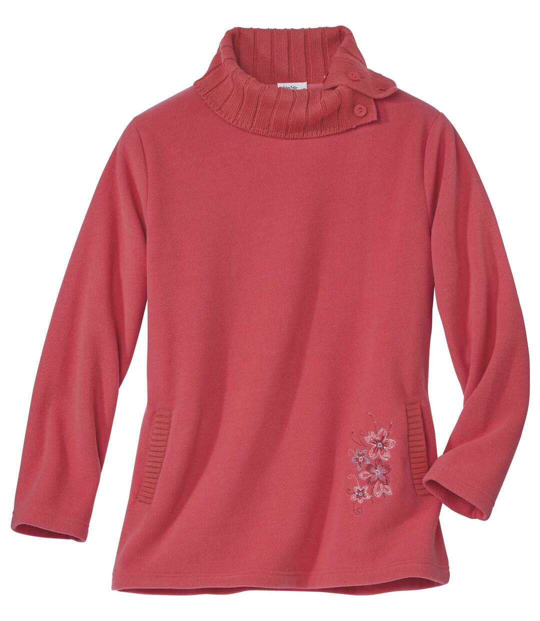Tunika-Pullover Tendance aus Strick und Fleece