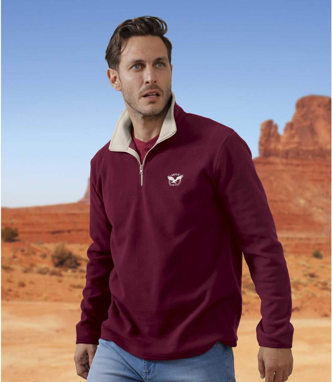 2er-Pack Poloshirts Eagle State aus Microfleece