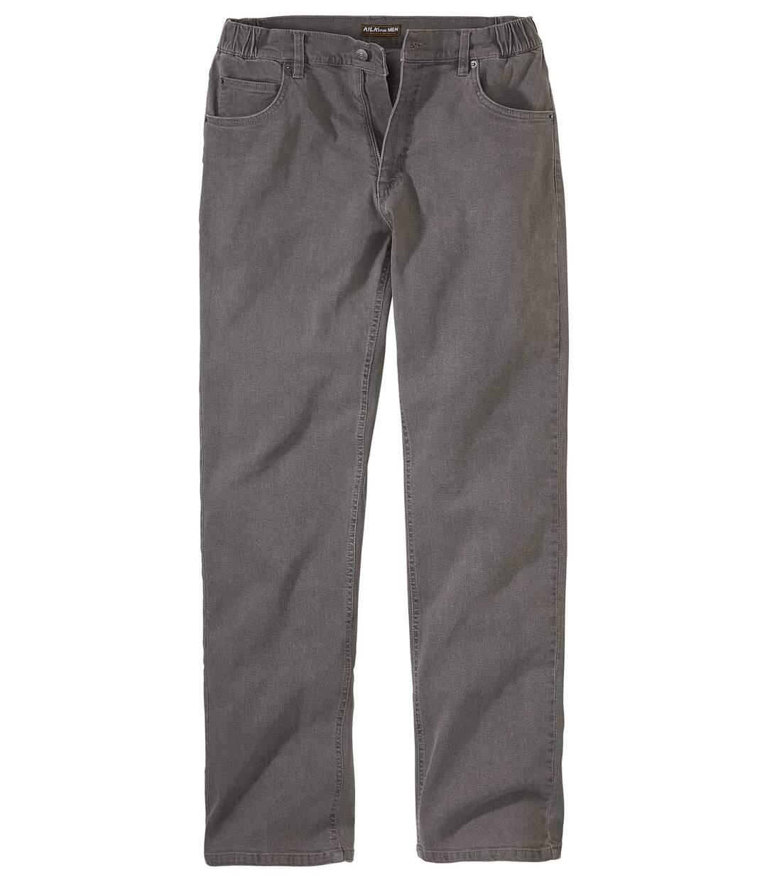 Stretch-Jeans mit halbelastischem Bund