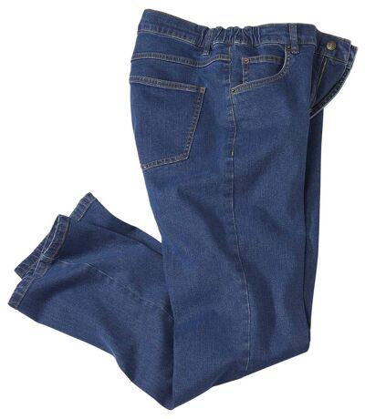 Men's Extra-Comfort Stretchy Blue Denim Jeans