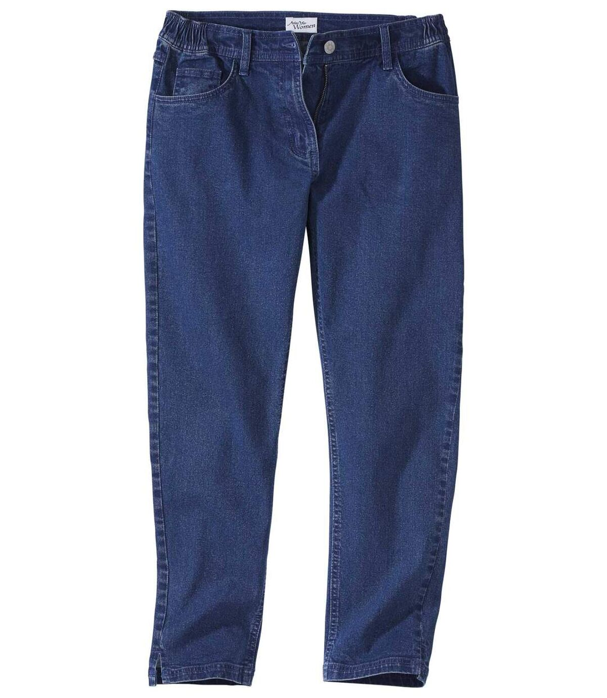 Women's Blue Cropped Denim Pants Atlas For Men