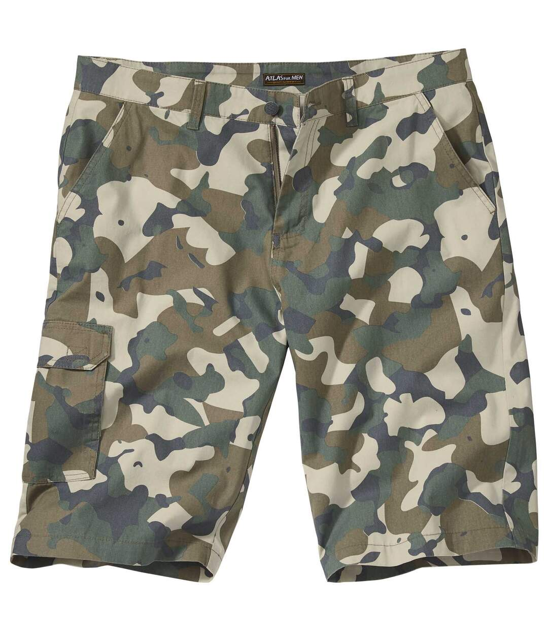 Battle bermuda met camouflageprint
