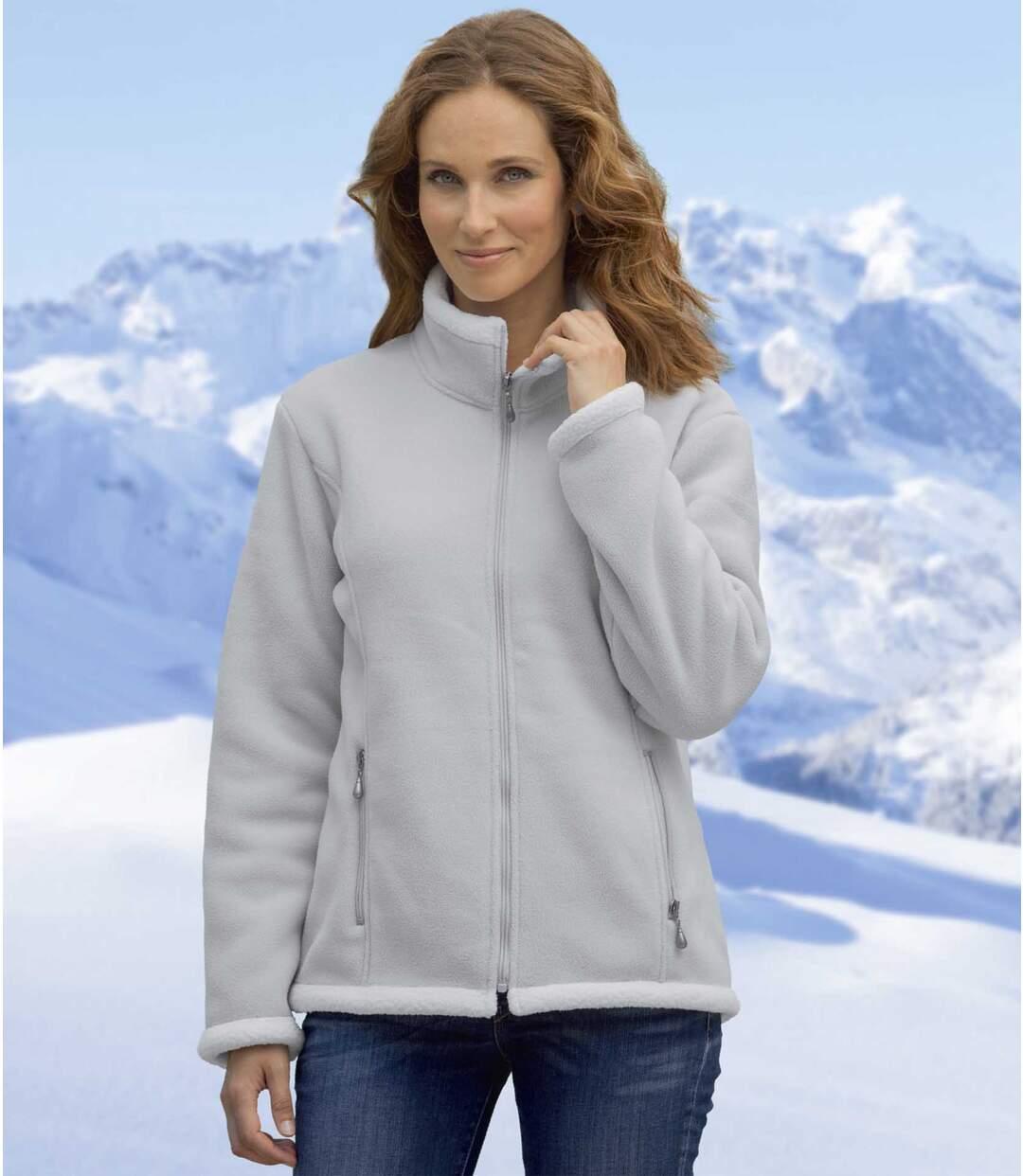 Fleecová bunda spodšívkou zumělé kožešiny