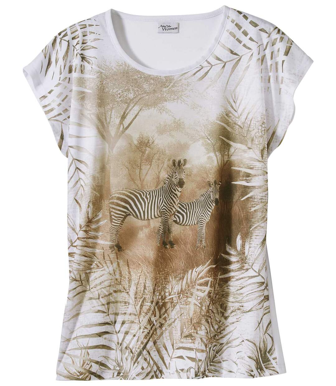 T-Shirt mit Zebramotiv