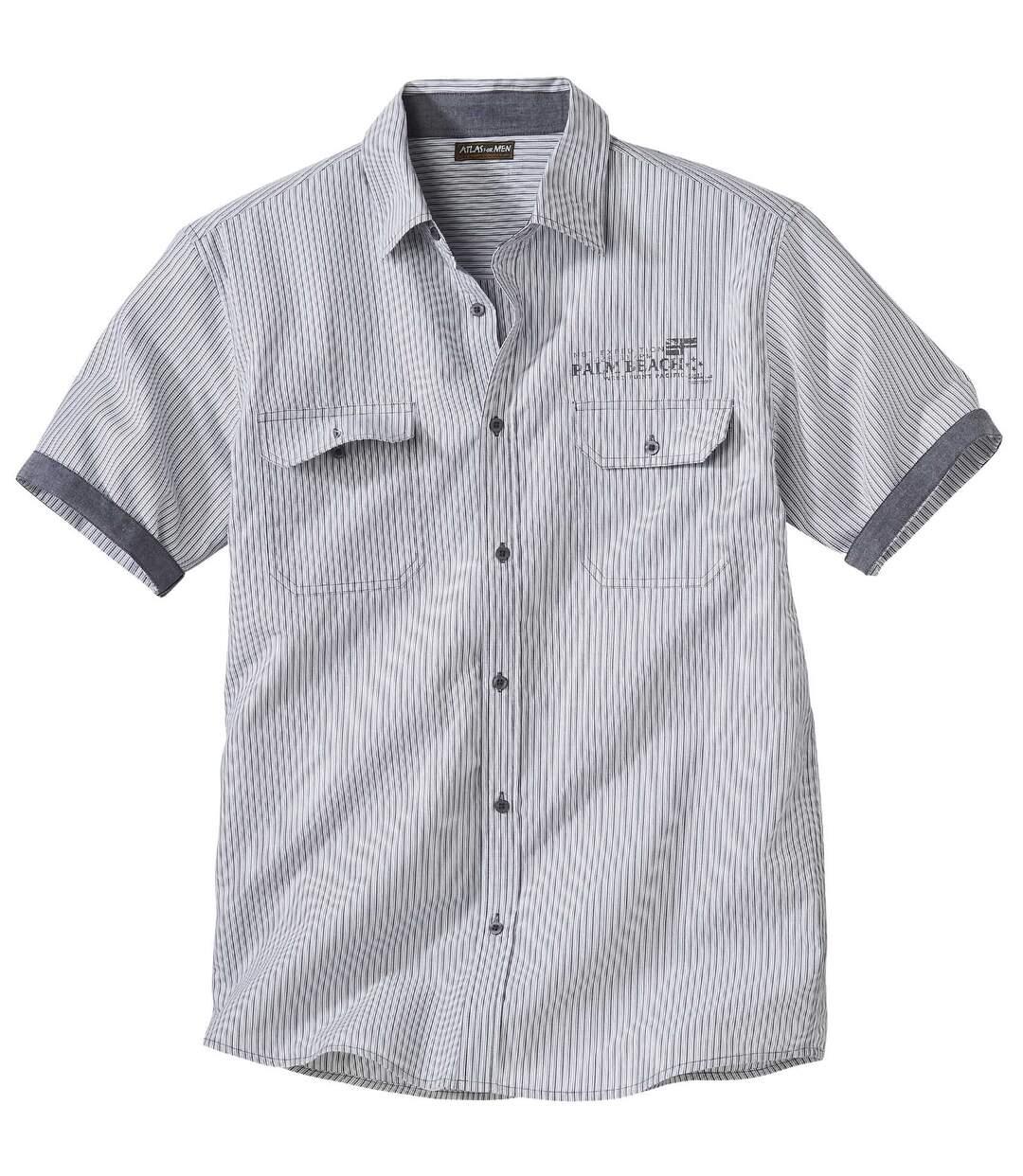Popelin-Hemd mit Webstreifen