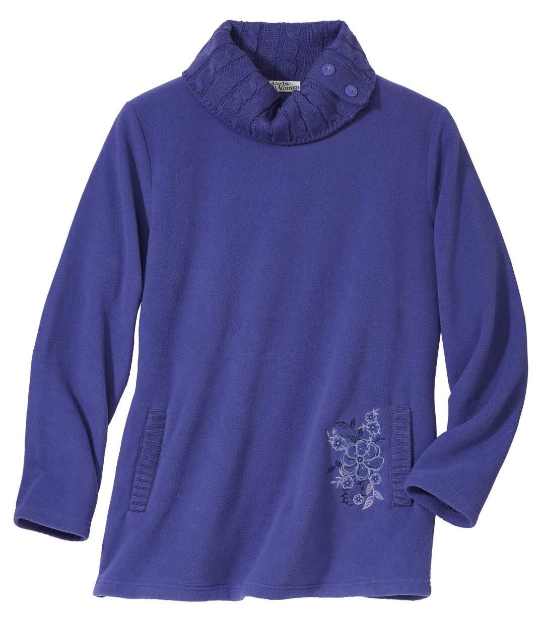 Pullover aus Microfleece im Tunika-Stil