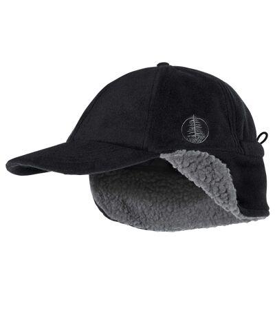 Polarowa czapka z daszkiem z kożuszkiem sherpa