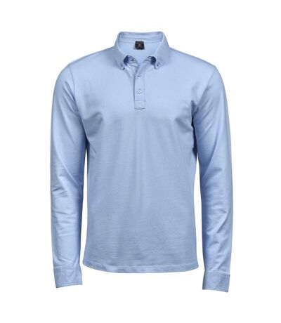 Tee Jays Mens Long Sleeve Fashion Stretch Polo (Light Blue) - UTBC4045