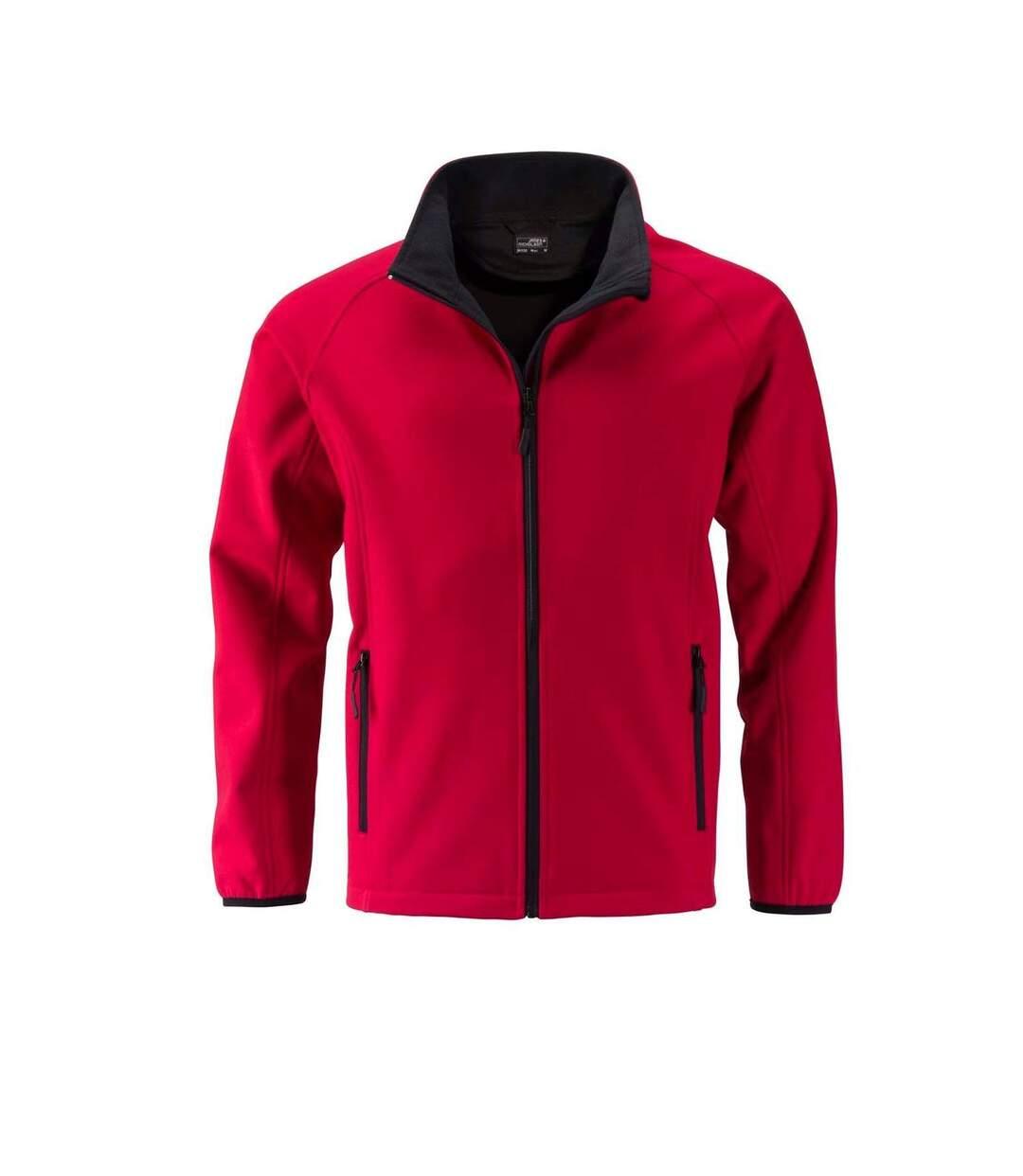 Veste softshell coupe-vent déperlante homme JN1130 - rouge
