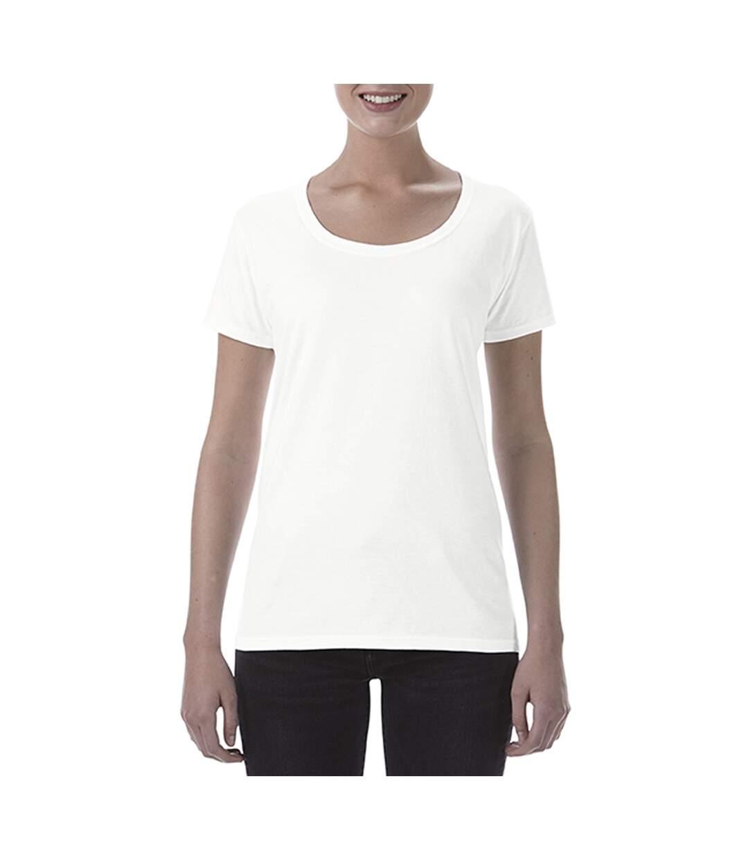 Gildan - T-Shirt À Col Rond - Femme (Blanc) - UTBC3717