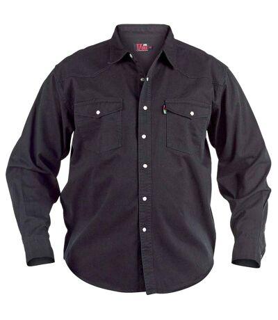 Duke Mens Kingsize Western Denim Shirt (Stonewash) - UTDC103