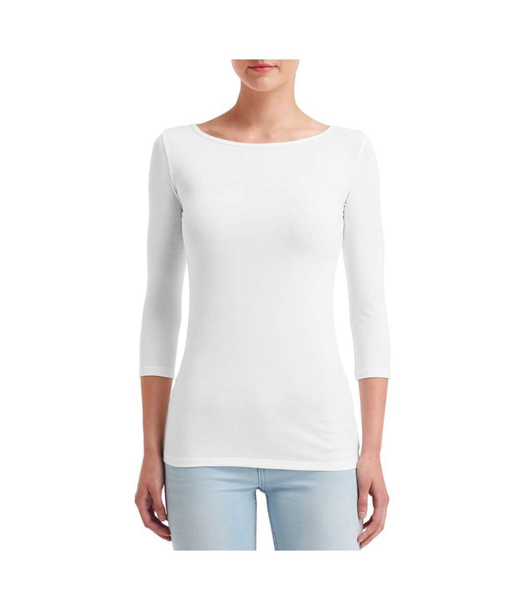 Anvil - T-Shirt À Manches 3/4 - Femme (Blanc) - UTBC4054