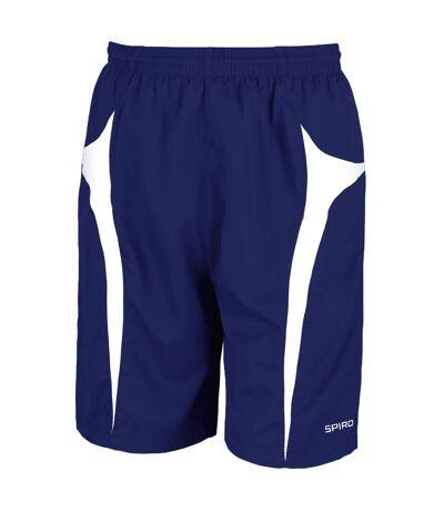Spiro Mens Micro-Team Sports Shorts (Navy/White) - UTRW1478