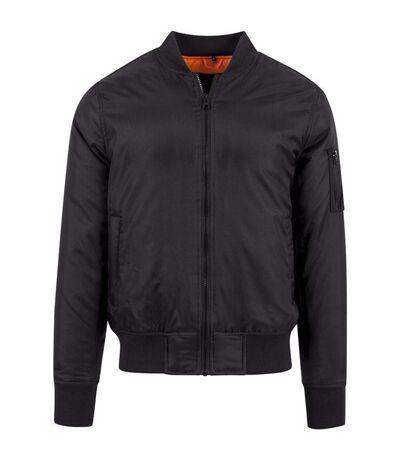 Build Your Brand Mens Contrast Bomber Jacket (Black) - UTRW5670