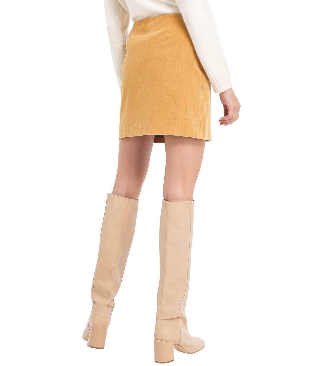 Dégagement Chemins Blancs Mini-jupe en velours  Femme dsf.d455nksdKLFHG