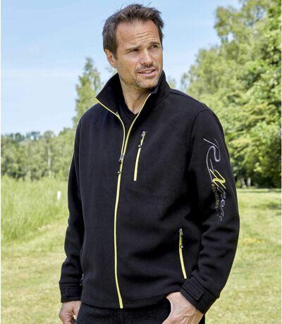 Men's Black Fleece Jacket -  R-Xtrem