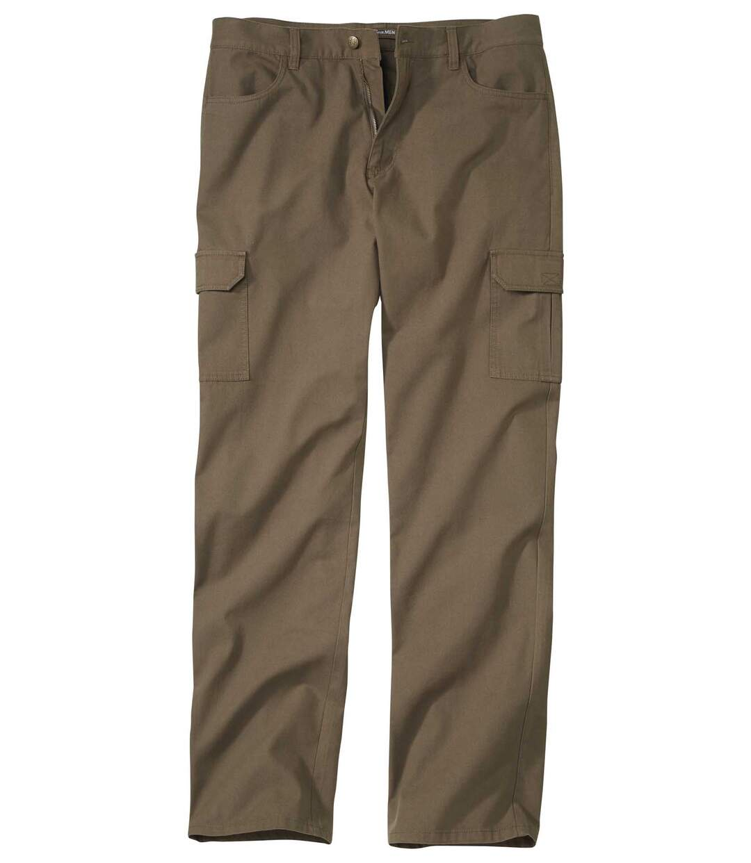 Men's Taupe Cargo Trousers - Microcanvas