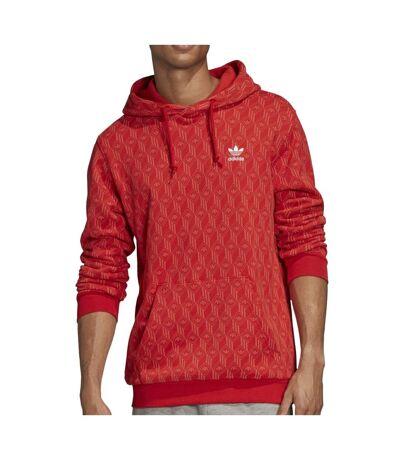 Sweat Rouge Homme Adidas Mono Aop