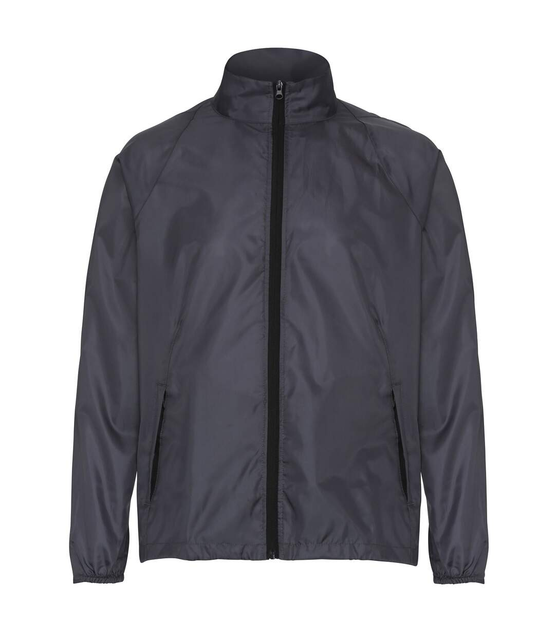 2786 Mens Contrast Lightweight Windcheater Shower Proof Jacket (Orange/ Black) - UTRW2501