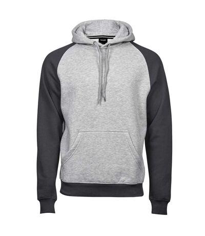 Sweat-shirt à capuche premium bi-colore - Gris - 5432 - homme