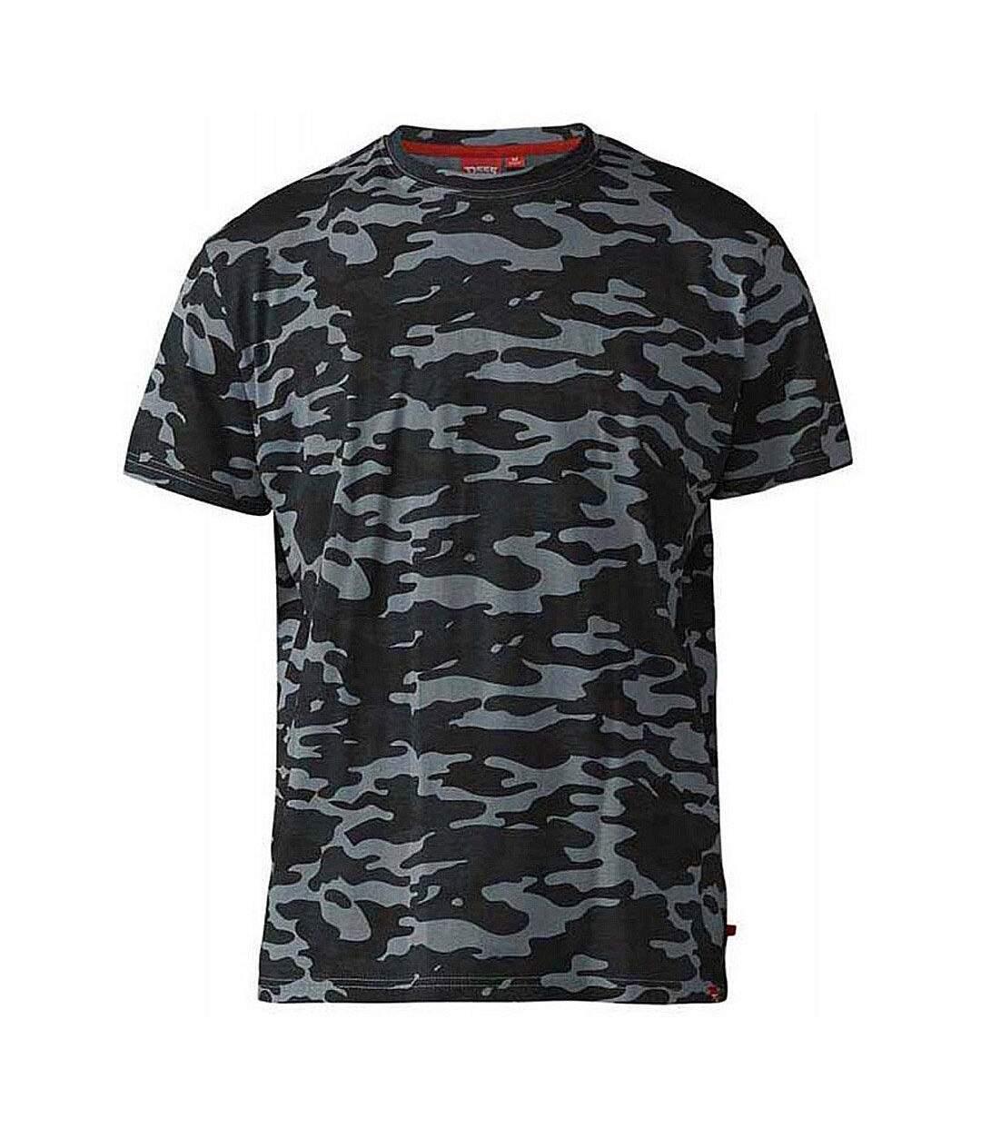Duke Mens Gaston Kingsize Camouflage Print T-Shirt (Storm) - UTDC195